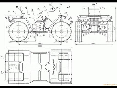 Квадроциклы 4х4 своими руками чертежи 784