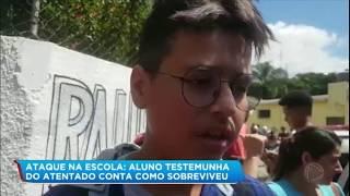 Aluno revela que ficou três vezes na mira de atiradores no massacre de Suzano