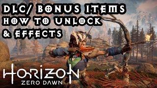 Horizon Zero Dawn! Bonus DLC: How to unlock & Effects! PS4 Pro