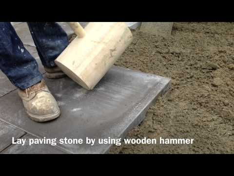 How To Lay Paving stone Front Garden