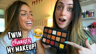 SHOP MY STASH | MY TWINS SISTER PICKS MY MAKEUP!