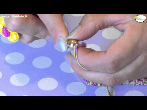 Tutorial braccialetti all'uncinetto fai da te