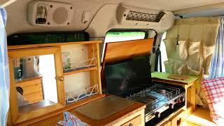 Beautiful 2004 Citroën Berlingo Micro camper van natural wood conversion!
