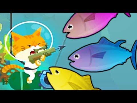 #3 ПОДВОДНЫЙ КОТЕНОК РЫБОЛОВ поймал ОГРОМНУЮ рыбу СЕЛЕДКУ симулятор котенка детский летсплей #ФГТВ