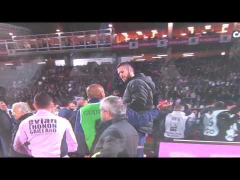 PSG 1-0 EVIAN  bagarre général à la fin du match !