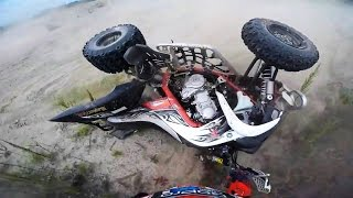 Crashes Fails Yamaha Raptor 700 - ATV quad compilation 2016 #2