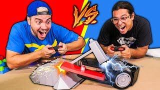 BATALHA DE ROBÔS !!! (LUCCAS NETO vs RONI)