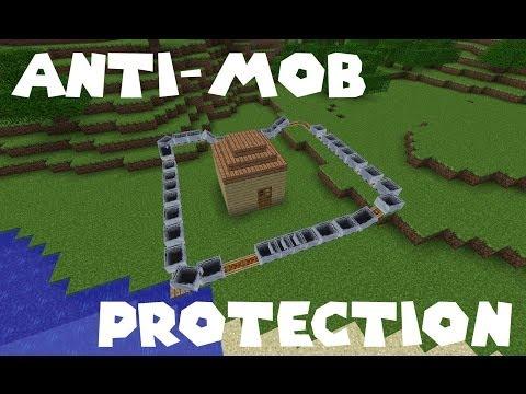 Anti-Mob Perimeter Protection in Minecraft PE!