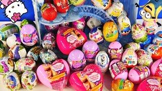 EGG COLLECTION - Power Puff Girls Barbie Chuggington Kinder Eggs Frozen MLP Cars Glitzi Globes Toys