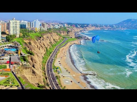 Walking in Peru Lima City & Beach Street Scenes Trip Tourism Travel Video