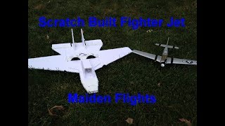 RC Scratch Built Fighter Jet: Maiden Flights (+ UMX P-51D BL Flight)