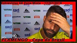 ZONA MISTA FLAMENGO ENTREVISTAS GE  - COPA DO BRASIL 2019