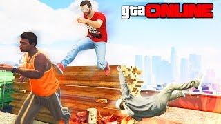 GTA 5 Online (PS4) - Убийственный паркур! #96