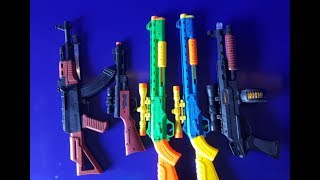 Guns Toys for Kids !!! Toy Swords Collection & equipment ,castle and weapons toys USA