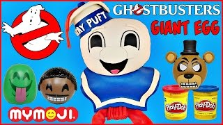 GHOSTBUSTERS STAY PUFT GIANT PLAY DOH SURPRISE EGG MARSHMALLOW MAN Mymoji FNAF