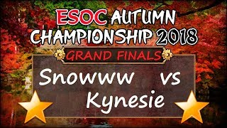 🌟Snowww 🇩🇪 vs Kynesie 🇫🇷 $1600 GRAND FINALS — ESOC Autumn Tournament 2018 [AoE3]