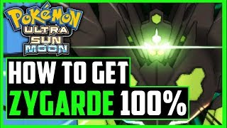 how to get zygarde 100 form in pokemon sun and moon youtube