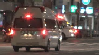 緊急走行救急車が鉢合わせするとどうなる?When 2 ambulances bump into each other at an intersection, what happens?