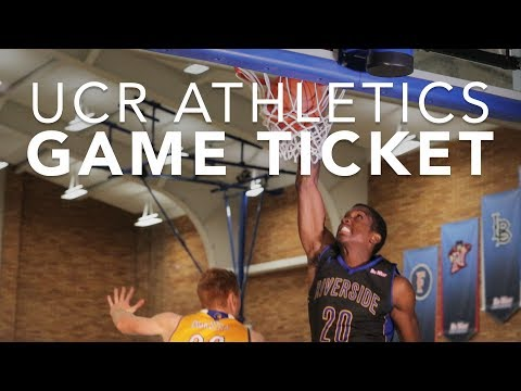 UCR Athletics: Game Ticket