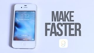 Did iOS 9 Slow Down The iPhone 4s? How To Speed Up iOS 9 and Make it FASTER + MORE BATTERY LIFE