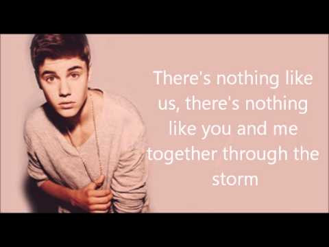 Justin Bieber - Nothing Like Us [lyric Video + Download Link] video