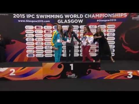 Women's 400m Freestyle S13 | Victory Ceremony | 2015 IPC Swimming World Championships Glasgow