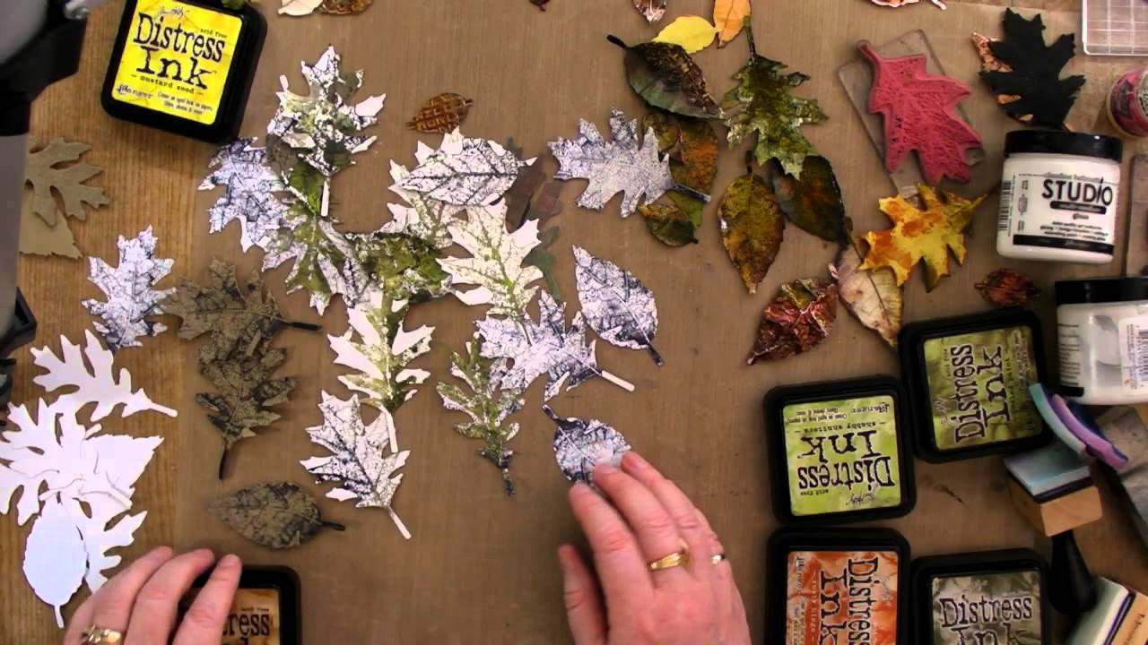How I Use Tim Holtz Tattered Leaves Die YouTube