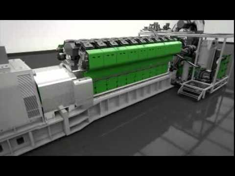 Natural Gas Powered Commercial Electrical Generation from GE