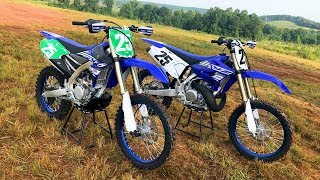 2 Stroke vs 4 Stroke 2019 Yamaha YZ250X and YZ250FX - Dirt Bike Magazine
