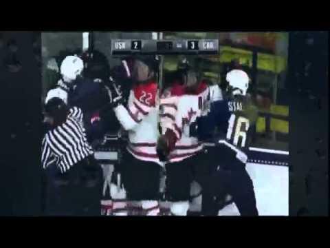 Real fights I street knockouts Canada USA womens hockey fight