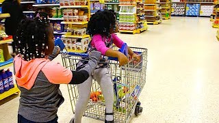 Funny Kids Doing Shopping At The Supermarket | Children Pretend Play