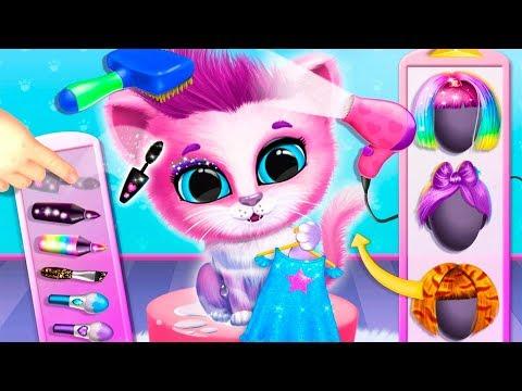 Мультики про животных Маленький котенок КИКИ и ФИФИ Игра для детей про котят Игровой Мультфильм