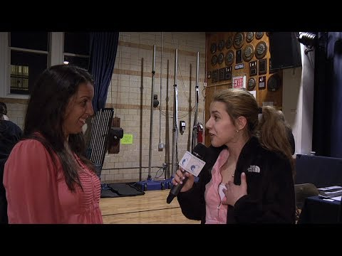 Students Take to the Mic at Fontbonne Hall Academy Career Fair - 04/30/2014