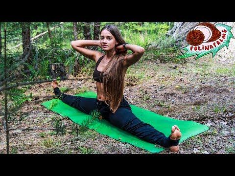 Поперечный шпагат для начинающих #1 💚 Упражнения на поперечный шпагат 🌴 POLI NA PALME