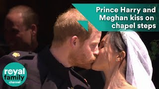 download musica Prince Harry and Meghan Markle kiss on St Georges Chapel steps