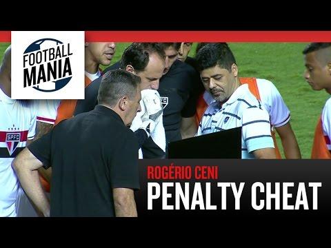 Rogério Ceni Penalty Cheat on Tablet - Copa Sudamericana 2014