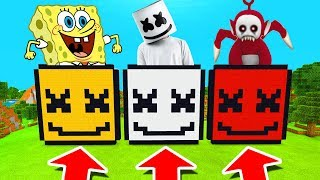 Minecraft PE : DO NOT CHOOSE THE WRONG MARSHMELLO! (Spongebob, Marshmello & Po Slendytubby)