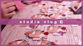 Studio Vlog #6 | shrinkles, new shop, sticker sheets, uni stress!!