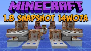 Minecraft 1.8 Snapshot 14w07a: Iron Trapdoors & Command Block Madness!