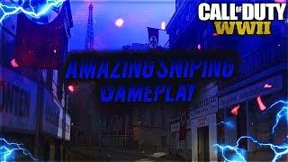 Amazing Call of Duty WW2 Sniping Gameplay