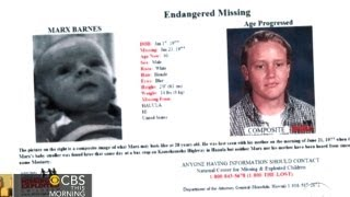 CBS This Morning - Man finds himself on missing kids website