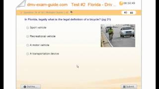 FLORIDA - DHSMV Learner Driving License Test # 2- Practice Exam - Rules of the Road