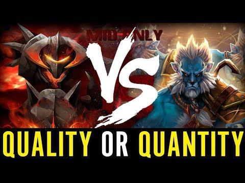 Quality or Quantity Chaos Knight vs Phantom Lancer Illidan Dota 2 Gameplay