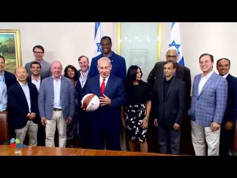 PM Netanyahu Meets NBA Delegation