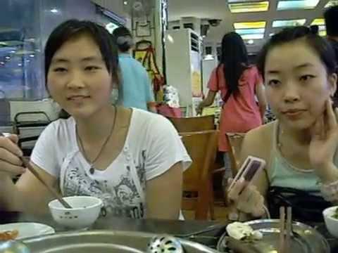 Shujaa's trip to Beijing. June 2008.   Hello 2 & her sister part 3