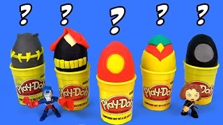 Marvel Avengers Play-Doh Surprise Eggs Guessing Game #2 with Avengers Toys & Team Iron Man Toys