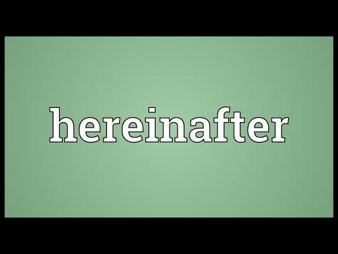 Header of hereinafter