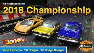2018 Championship Race - 3DBotMaker Diecast Racing League Hot Wheels