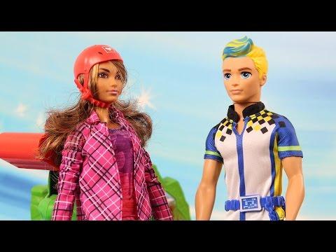 Jazda na desce   Barbie i Ken   Barbie Stworzona do ruchu   Bajki dla dzieci