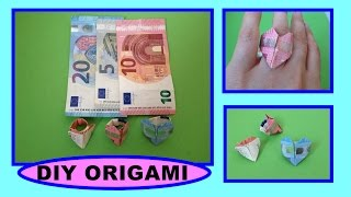 DIY Origami Herz - Ring, Geschenk, Heart, quick and easy gift ideas